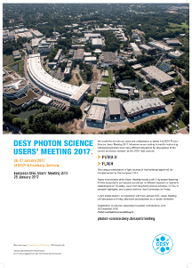 Photon Science Nutzertreffen 2017 Poster