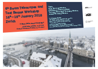6th Beam Telescopes and Test Beams Workshop 2018