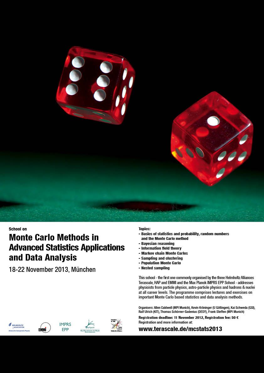 Monte Carlo Methods in Advanced Statistics Applications and Data Analysis